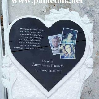 Надробен паметник с триплекс от мрамор и гранит МОДЕЛ 503