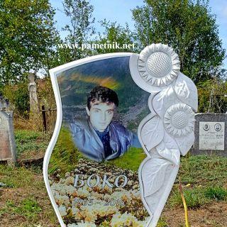 Надгробен паметник от мрамор с триплекс МОДЕЛ 3