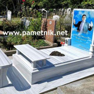 Надгробен паметник от мрамор с триплекс МОДЕЛ 1007