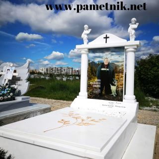 Надгробен паметник от мрамор с триплекс МОДЕЛ 1010